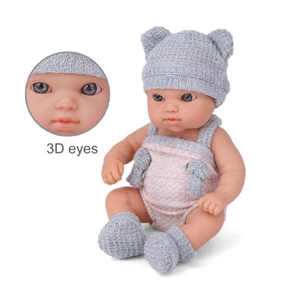 Soft Baby Doll 3D Eyes Newborn & Free Gift